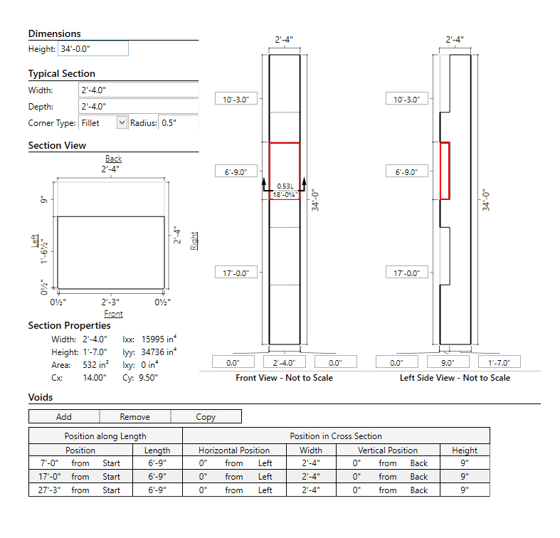 Eriksson Column - Precast Column Design and Analysis